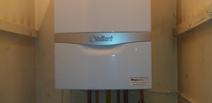 Vaillant Boiler in Cupboard